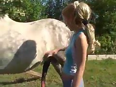 Sexy teen babe loves horses and getting banged
