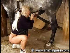 Animal Sex Hot mom fucking horse